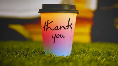 Coffee as a thank you.
